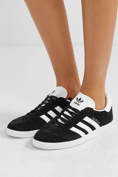 adidas Originals gazelle suede and leather sneakers ...