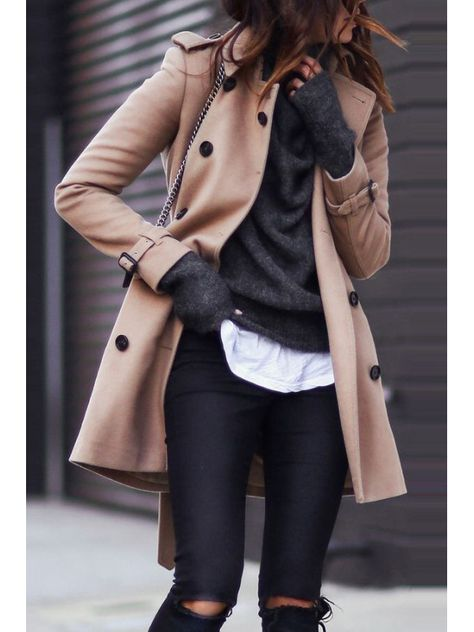 Fashion Turndown Collar Pure Colour Long Sleeve Coat we have chosen the newest fashion clothes for y