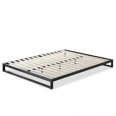 7 Queen Trisha Platform Bed Frame Black Zinus In 2020 Bed