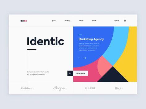 Geometrical UI | Web Design