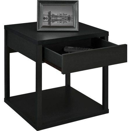 Mainstays Parsons End Table With Drawer Multiple Colors Image 4 Of 6 End Tables With Drawers End Tables Sofa End Tables