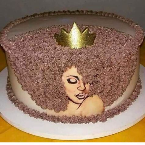 Black Queen Afro Cake