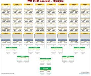 Wm 2018 Spielplan Fur Excel Spielplan Wm 2018 Planer