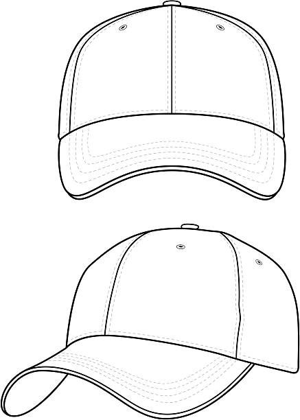 Baseball Caps Outline Cap Designs T Shirt Design Template Cap