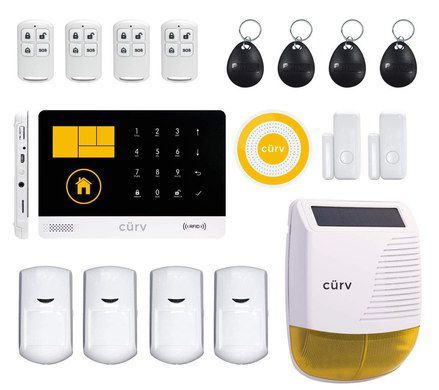 Curv Home Wifi Alarm System Home Security Systems Wireless Alarm System Wireless Home Security Systems