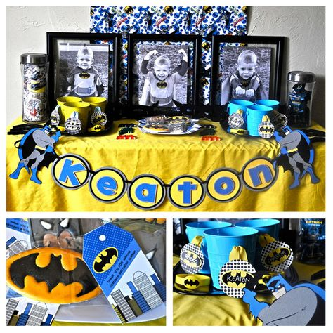 Such a cute Batman party. Lots more ideas when you click the link.