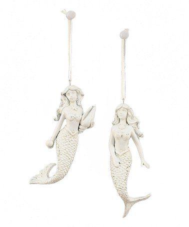 Joyful mermaid ornament