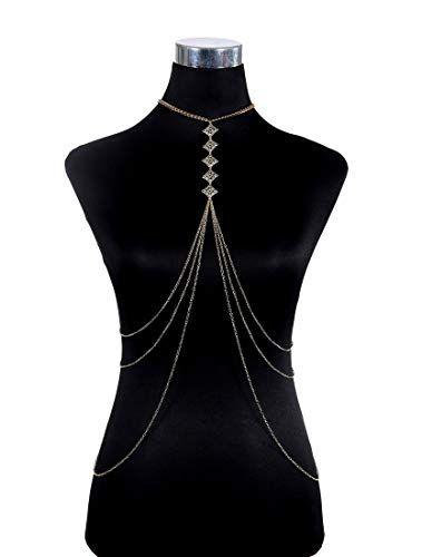 Body Waist Belt Chain Harness Crossover Belly Waist Bikini Beach Necklace LA