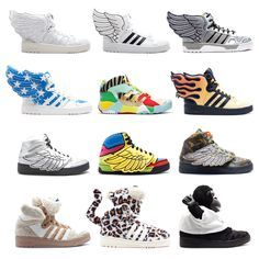 save off 732d5 b6253 Adidas Originals x Jeremy Scott Panda Bjørn Sneakers Sort Hvid HOT SALE!  HOT PRICE!   SHOES   Pinterest   Zapatos, Jeremy scott and Adidas