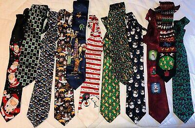 Christmas Ties 2020 Christmas Neckties Lot Of 12 Ties Various Brands in 2020