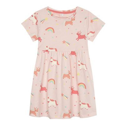 91ac444a9559 bluezoo Girls' light pink unicorn print dress | Debenhams | Lyla ...