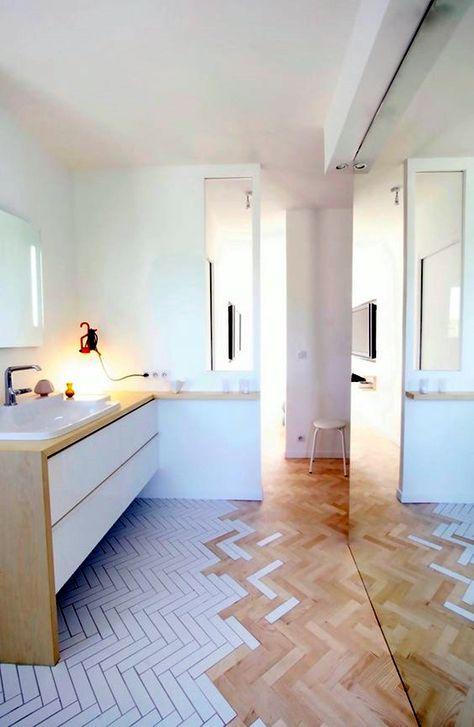 40 Kreative Holzfussbodenfarbe Dekoration Kunstwerke Badezimmergestaltung Fischgratenboden Bad Inspiration