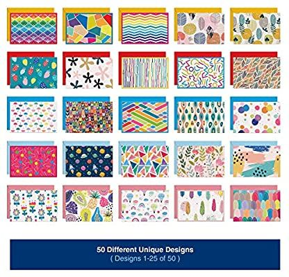 Amazon Com Dessie 50 Blank Cards With Envelopes Set Of 50 Different 4x6 Inch Blank Greeting Cards W Colore Blank Cards And Envelopes Note Cards Blank Cards