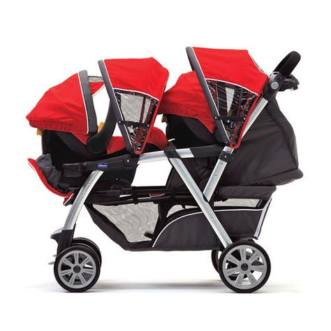 This stroller is the perfect solution for twins or for a toddler and a new baby! Cortina Together Double Stroller - Romantic -