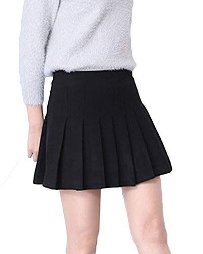 873f814cd Mujeres Falda Tenis Plisada Cintura Elástica Uniforme Escolar para ...