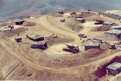 Hilltop firebase in Vietnam, from