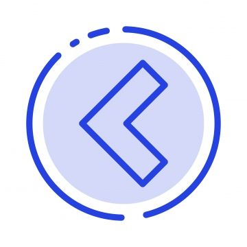 Arrow Back Left Blue Dotted Line Line Icon Line Icons Blue Icons Aiming Png And Vector With Transparent Background For Free Download