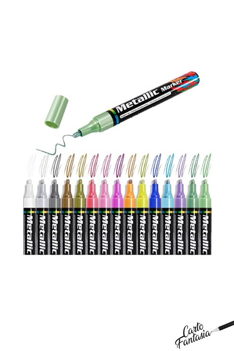 Gafild Set of 15 Marker Pens Fine Tip for Acrylic Paint Pens for Rock Painting