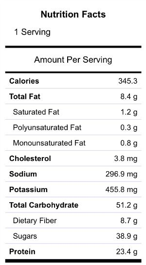 Nutrition Facts Caramel Apple Protein Smoothie Nutrition Facts Protein Smoothie Mason Jar Salad
