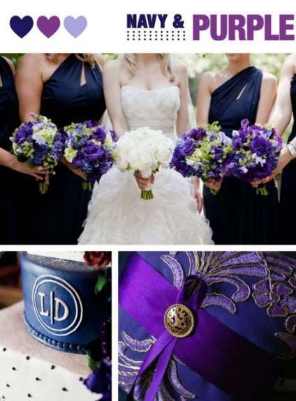 59 Trendy Wedding Cakes Navy And Coral Purple Purple Wedding