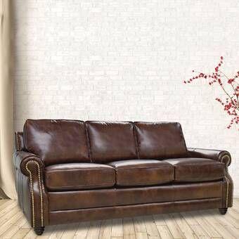 Baxter Springs Sofa Bed Reviews Birch Lane Leather Sofa Cognac Leather Sofa Sofa