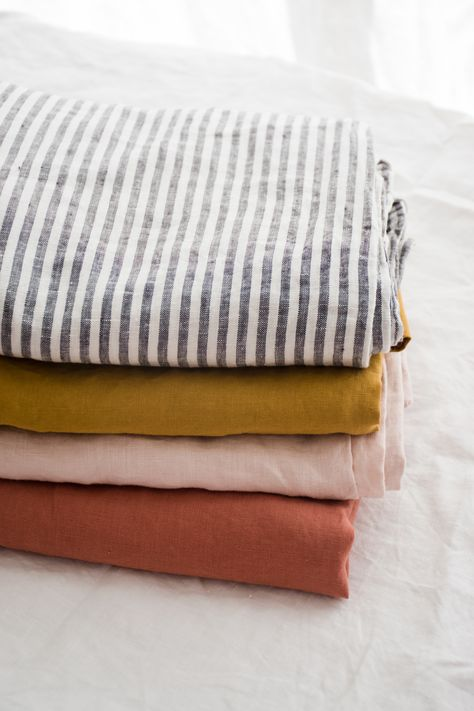 Stacks of our favourite linen colours