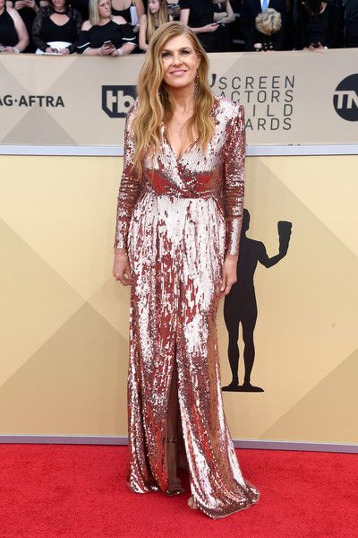 Actor Connie Britton attends the 24th Annual Screen Actors Guild Awards.
