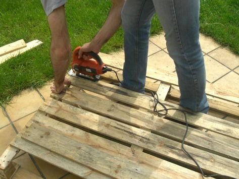 Emejing Table De Jardin Pliante En Palette Ideas Amazing House Avec ...