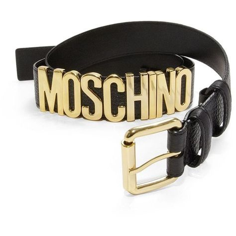 7ef3c0ed08 Moschino Side Logo Leather Belt ($240) ❤ liked on Polyvore featuring men's  fashion, men's accessories, men's belts, apparel & accessories, mens  leather ...