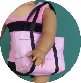 Brambleberry Cottage: You Can Make It - AG Doll Beach Bag/Tote