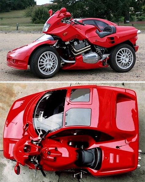 When it comes to custom motorcycle builders, there's crazy and there's really crazy. From the alligator bikte to the Motorcycle Tank. 10 strange vehicles around Weird Cars, Cool Cars, Custom Motorcycle Builders, Carros Lamborghini, Trike Motorcycle, Motorcycle Design, Futuristic Cars, Chevy Camaro, Amazing Cars