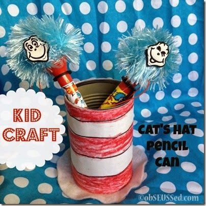 Cat's Hat Pencil Can - Simple Kid Craft