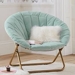 Enzyme Washed Canvas Light Grey Hang A Round Chair Round Chair Big Comfy Chair Comfy Chairs