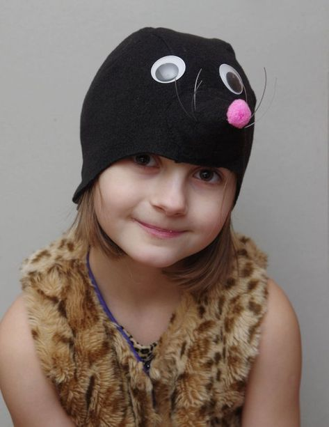 Kids Halloween costume, kids mole costume hat, toddler pretend play, toddler costume, 4T-9T