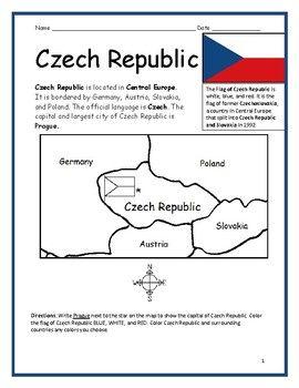 Czech Republic Flag Coloring Page