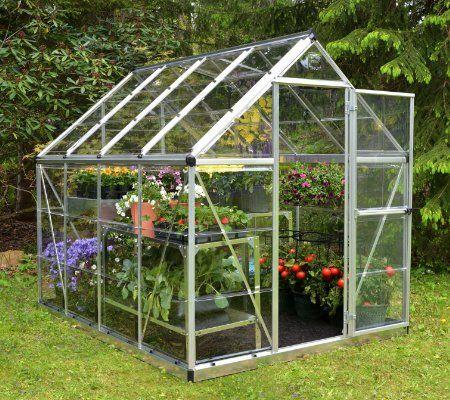 Serre De Jardin Argent Harmony 4 5 M Aluminium Et Polycarbonate Palram Leroy Merlin En 2020 Serre Jardin Jardin Vert Jardinage En Serre