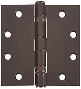 Oil Rubbed Bronze Steel Spring Hinge Global Door Controls 4.5 in Set of 3 x 4.5 in