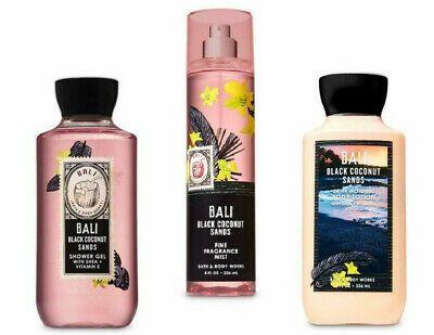 Ad 3 Bath Body Works Bali Black Coconut Sands Mist Shower Gel