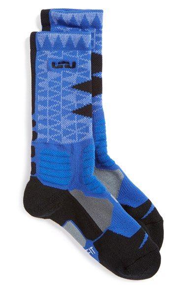 1f9e2104c96c Nike  LeBron - Hyper Elite  Cushioned Basketball Crew Socks (Big Kid ...