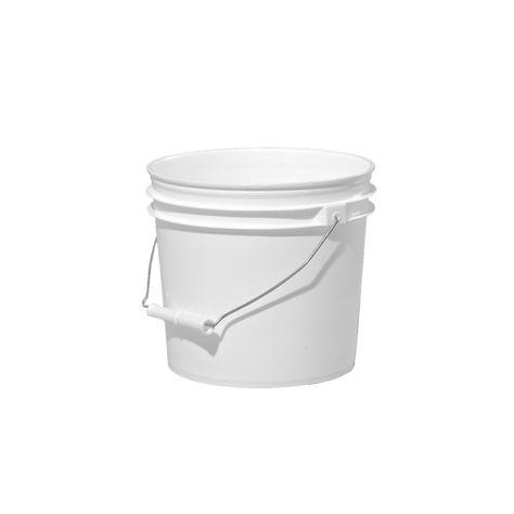 1 Gallon White Plastic Round Open Head Pail W Metal Bail Illing Plastic Pail Pail Gallon