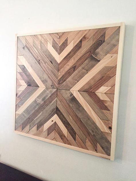 Reclaimed Wood Wall Art Wooden Wall Decor Wood Art Modern