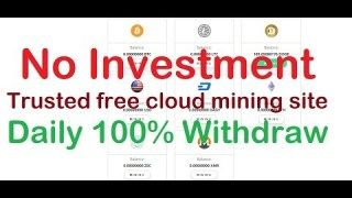 Trusted free cloud mining sites _ free bitcoin mining without