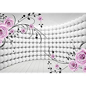 Vliestapete Foto Tapeten Blumen weiß Rote Rosen Tapete Motiv Wand Deko Ideen XXL