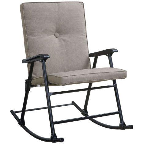 Magnificent Oversized Padded Folding Rocker Camp Seating Outdoor Creativecarmelina Interior Chair Design Creativecarmelinacom