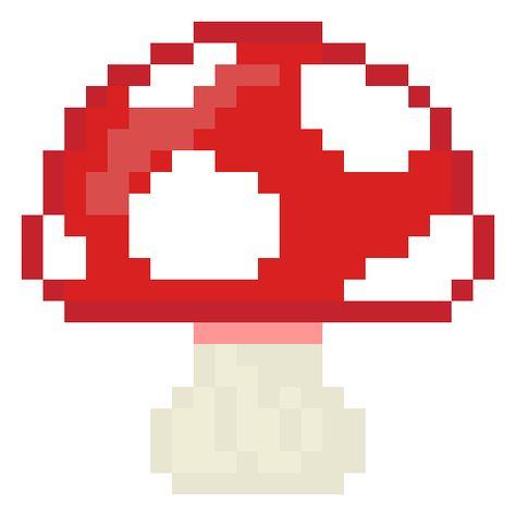 Mushroom Pixel Art From The Food Pack Of Picroad Pixel Art