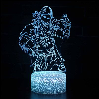 3d Fortnite Led Night Light Remote Control 16 Color Game Room Lamp Decor Gift 3d Illusions 3d Illusion Lamp Night Light Kids