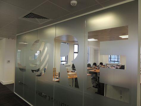 Glass office room divider