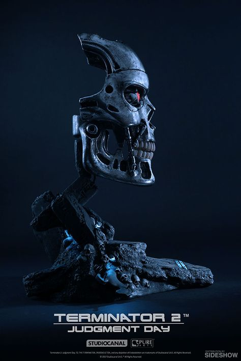 Terminator T-800 Endoskeleton Life-Size Bust by PureArts