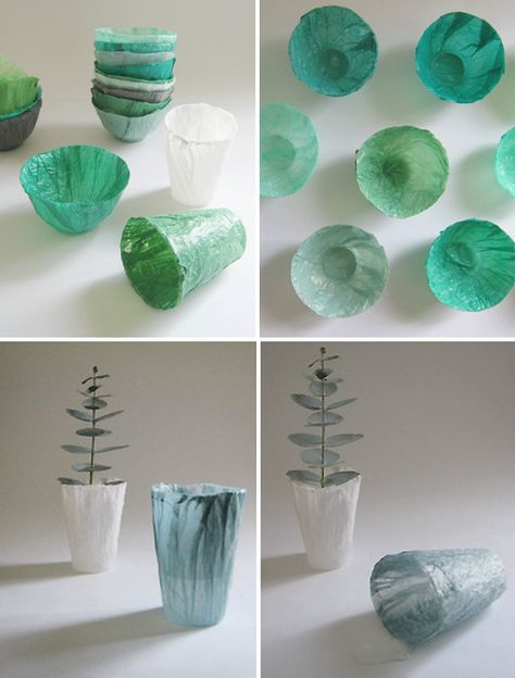 supercycle…cool tutorial fusing plastic bags to cups. Source by tmatthies