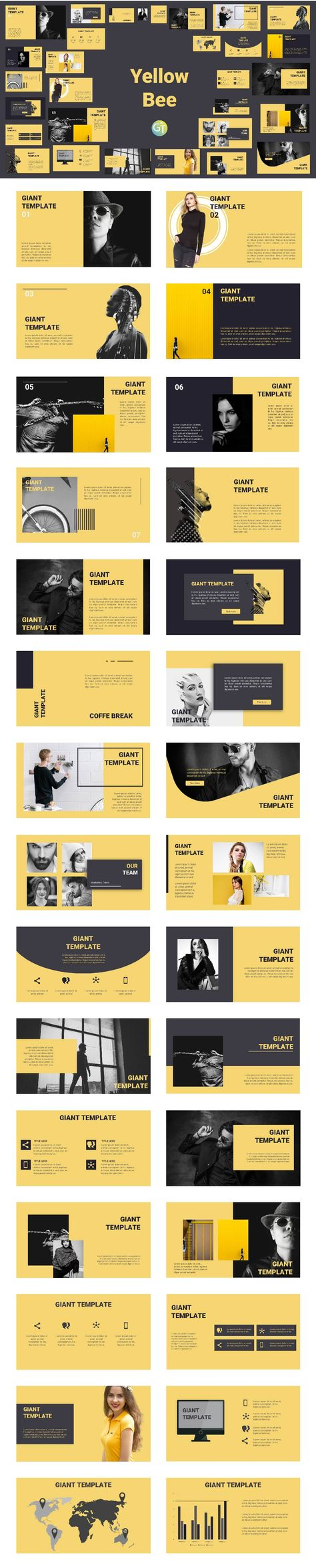 Yellow Bee Free Powerpoint Template